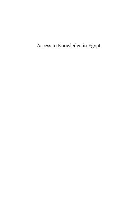 Access to Knowledge in Egypt by