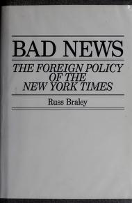 Cover of: Bad news | Russ Braley