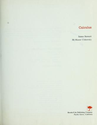 Cover of: Calculus   James Stewart